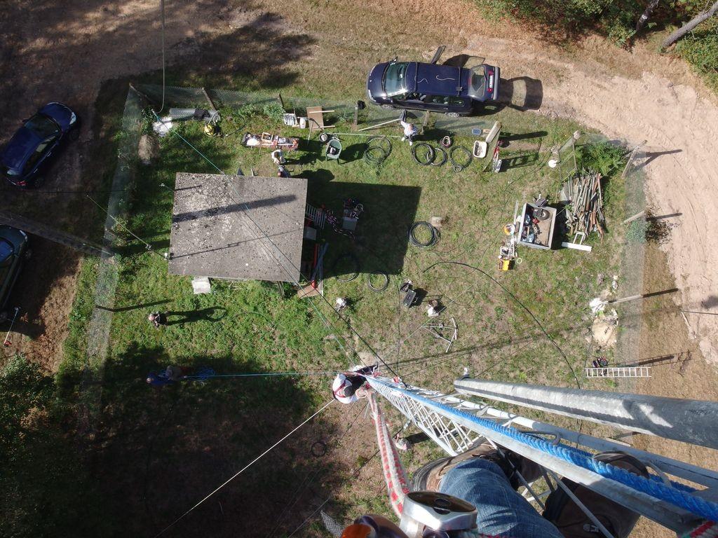 Vue du site du R3 depuis le haut du pylône de 24m...