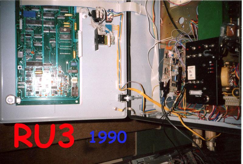 RU3 : Carte de contrôle avec un uP 8085. A comparer avec un Teensy ou Uno !