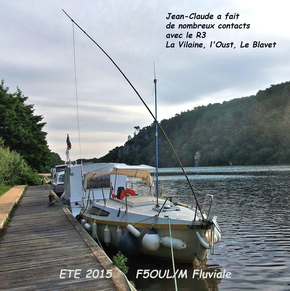 Navire de f5oul et son installation d'antennes